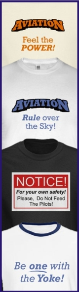 Aviation themed t-shirts and gifts